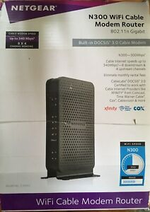 Barely Used NETGEAR N300 Cable Modem Router 802.11 n Gigabit