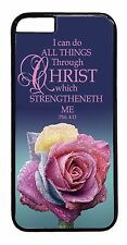 Christian Bible Verse Rose iPhone6 6+ 5S 5C 5 4S 4 Case TPU Rubber or Hard Cover