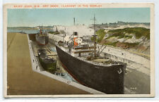 Dry Dock Ships St John New Brunswick Canada 1937 postcard