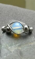 Handmade Opalite Gemstone Silver Wire Wrapped Ring ANY SIZE
