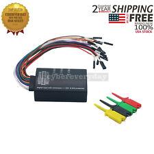 Mini Saleae 16 Logic Analyzer USB 100M Max Sample Rate 16CH Ver. 1.1.34  US Ship
