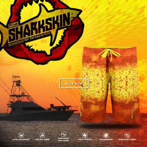 Pelagic Board Shorts - Shark Skin Psycho Dorado Orange/Yellow
