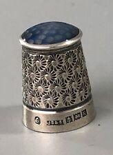 More details for antique silver & agate thimble js&s birmingham 1959 size 6 azx