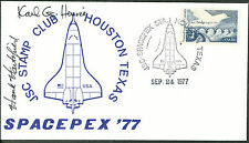 "Henry ""Hank"" Hartsfield & Karl Henize - SIGNED Cover - SPACEPEX '77 (O44)"