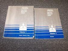 1991 Mitsubishi Mighty Max Pickup Truck Shop Service Repair Manual Set 2.4L