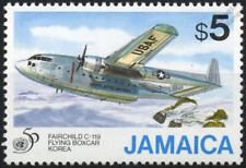 United Nations (UN) Fairchild C-119 Flying Boxcar Aircraft Stamp (1995 Jamaica)