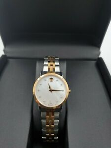 NEW  Movado Women's Museum Rose Gold / Stainless Steel Watch 0607077 MSRP $1295