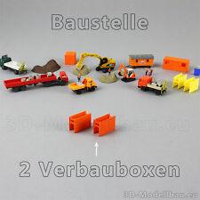 1:160 Spur N Kleinserie Baustelle Zubehör 2 Stk.Verbaubox Tiefbau Diorama Bauhof