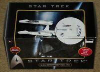 HOT WHEELS STAR TREK U.S.S. ENTERPRISE NCC-1701 DIE-CAST METAL w/ DISPLAY STAND