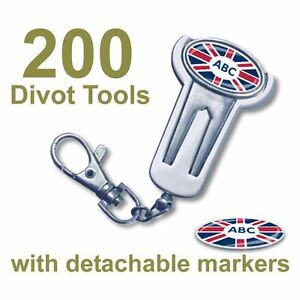 Best Impressions Corporate Golf Divot Repairer Tool Key Ring Oval Ball Marker
