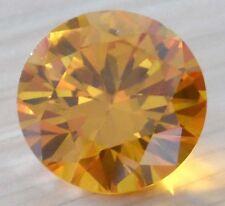 18mm Unheated 32.16ct AAAAA Yellow Sapphire Diamond Cut Round VVS Loose Gemstone