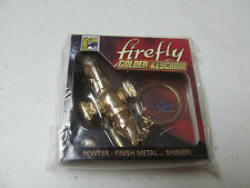 Firefly Serenity Golden Keychain San Diego Comic Con 2013 metal pewter sealed