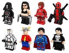 8pcs Set Reaper Laura Logan Original Flash Punisher SuperMan Deapool Bricks Toys
