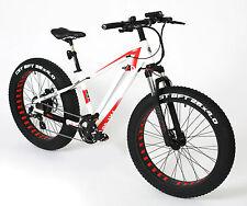 """Vélo Électrique ebike fat-bike grand Pedelec BLANC 3D forgé CST 26 """" E Sonic"""