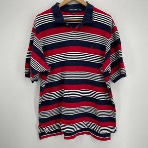 Polo Golf Ralph Lauren Polo Shirt Men's 2XL Multicolor Striped Short Sleeve