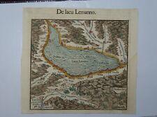 1564 SEBASTIAN MUNSTER MAP OF LAKE GENEVA DE LACU LEMANNO - Switzerland