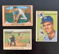 Baseball Card Lot: 1954 Topps Sain -1955 Bowman Rizzuto -1959 Fleer Ted Williams