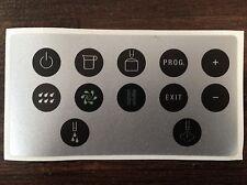 Jura Impressa X7 Tastenschutzfolie -Aufkleber Sticker