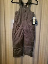 iXTREME Polyester Ski Bibs Bib Overalls Boys Size 5/6 Green Army insulated