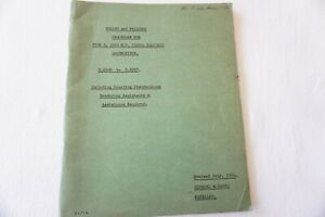 1964 Type 3 1550 HP Railway Fault Finding Instructions Manual Rule Book