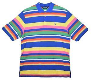 Polo Golf Ralph Lauren Men's Size L Multi Color Striped Shirt  RARE