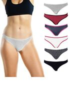 Women's Underwear Thong Cotton Packs of Panties Color and Patterns May Vary