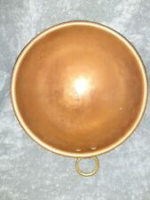 "Vintage Copper 10"" mixing/chocolate bowl W Brass Ring From France free shipping"