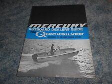 VINTAGE 1976 MERCURY OUTBOARD DEALER's GUIDE QUICKSILVER ACCESSORIES STEERING
