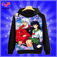 Anime Inuyasha HigurashiKagome Coat Unisex Hoodie Jacket Sweatshirt Long Sleeve