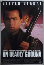 ON DEADLY GROUND DS ROLLED ORIG 1SH MOVIE POSTER STEVEN SEAGAL JOAN CHEN (1994)