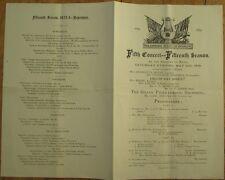 Orchestra 1873 Program: Philharmonic Society of Brooklyn, NY - 5/10/1873