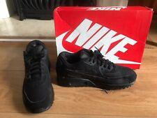 Men's Nike Air Max 90 Essential Triple Black Mesh - Size 9