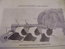 ORIGINAL JOHN DEERE  PARTS MANUAL-F110  F  120  F130  PLOWS