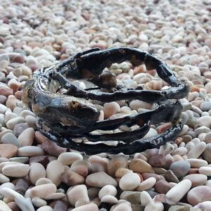 Genuine Handmade Coral Bangle Indonesian Black Akar Bahar Bracelet #06