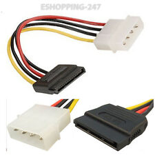20CM 4 Pin Molex Male to SATA Female IDE Power Plug Cable For Hard Drive D050