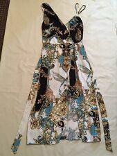 River Island Wrap Cami Strap Midi Dress with Belt UK 14