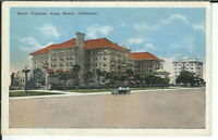 CB-272 CA, Long Beach, Hotel Virginia  Linen Postcard Old Car, front view