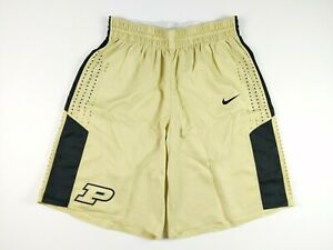 Nike 2017-18 Purdue Boilermakers Team Issued Gold Basketball Shorts Size 40