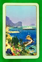 Playing Cards 1 Single Card Old Named FUNCHAL MADIERA Ship Coastline Art Picture