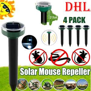 4X Maulwurfschreck Bestes Frequenz Solar Lautlos Isotronic Maulwurf Abwehr Maus
