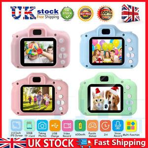 Mini Children Digital Camera Kids Camcorder/Video Recorder Toy Gift &32GB Card