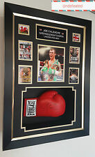 * New JOE CALZAGHE Signed Boxing Glove AUTOGRAPH Display *