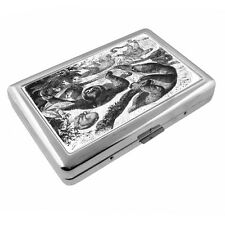 Cute Sloth Images D10 Silver Metal Cigarette Case RFID Protection Wallet
