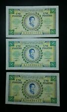 FRENCH INDOCHINA 3X ONE PIASTRE 1953