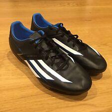 Adidas F10 TRX FG Football Boots Black Blue Mens US 10 - READ DESCRIPTION