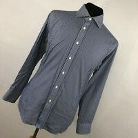 Charles Tyrwhitt 16 34 Mens Dress Shirt Slim Fit Blue Checkered Button Down  L1