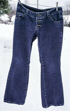 Vintage Men's Lee Dungarees Button Fly Denim Bell Bottoms Jeans Buddy Lee 34x32