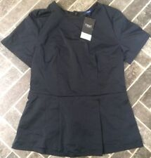 BNWT Size 6 NEXT Navy Blue Top - Tunic Style / Short Sleeves. Workwear Rrp £24