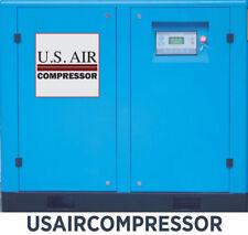 NEW US AIR 15 HP SCREW COMPRESSOR WITH GARDNER DENVER FILTER SINGLE 1 PHASE