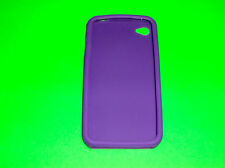 PURPLE SILICONE CASE SKIN COVER FOR APPLE IPHONE 4 4S 16 32 54 G